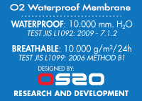 Datos de laboratorio O2 Waterproof Membrane